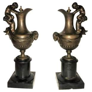 Pair of 19th Century Ewers or Urns (422-209)