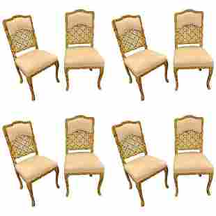Set of Eight Hollywood Regency Style Chairs