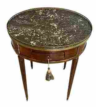 French Louis XVI Period Bouillotte End Table