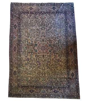 19th Century / 1920s Kermin Carpet 7.25