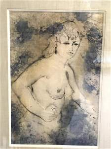 Etching - Study of a Woman