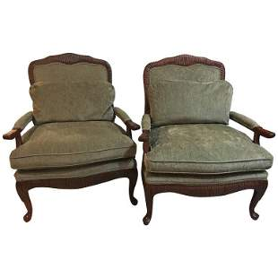 Pair of Oversized Louis XV Style Fauteuils