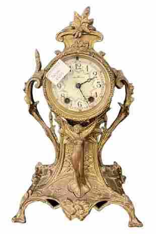Seth Thomas Bronze Mantel Clock