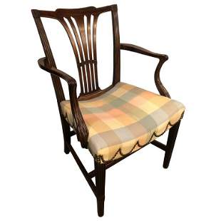 18th Century Sheridan Armchair with Slanted Seat