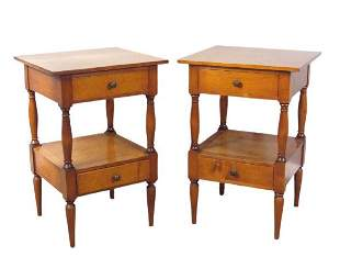 Pair Colonial Style Bedside Stands