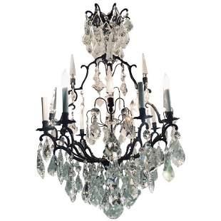 8 Light Versailles Chandelier with Swarovski Style