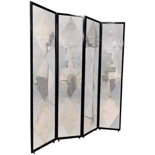 Four Panel Double Sided Floor Screen