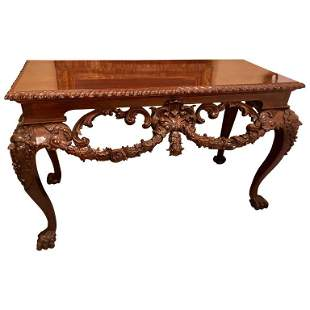 Georgian Style Console Table Carved Heads,1940s