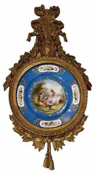Serves Plate in Gilt Frame