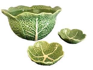 Bordallo Pinneiro Leaf Bowl w 2 Dishes