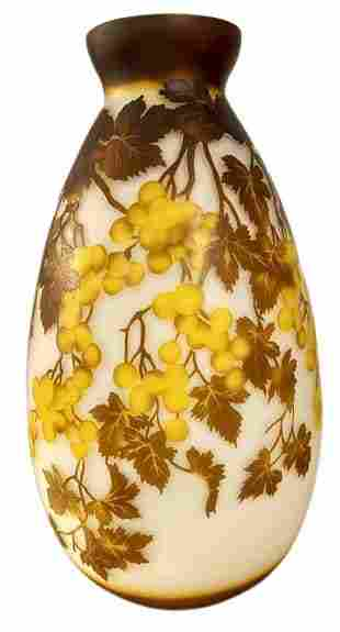Galle Signed Large Vase