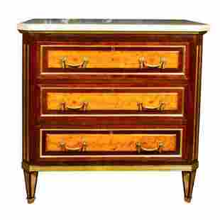 19th Cent Russian Neoclassical Commode Nightstand