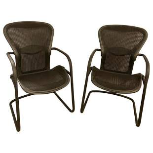 Pair of Miller Eames Model EA 435 Executive Chair