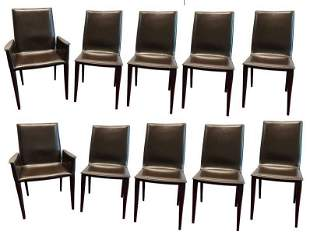 10 Frag Italian Leather Dining Chairs Marchio