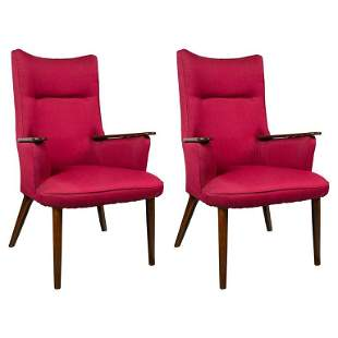 Pair of Mid-Century Modern Rosewood Armchairs