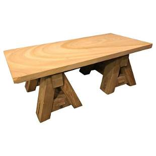 Sandstone Adirondack Style Coffee Table