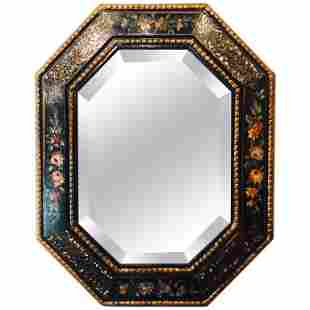 Mother-of-Pearl Accented Octagonal Bevel Mirror