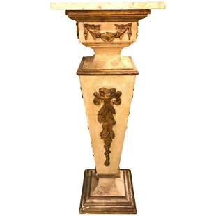 19th Italian Giltwood and Paint Decorated Pedestal