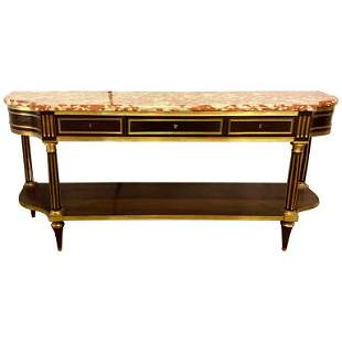 19th C. Palatial Russian Marble Top Console