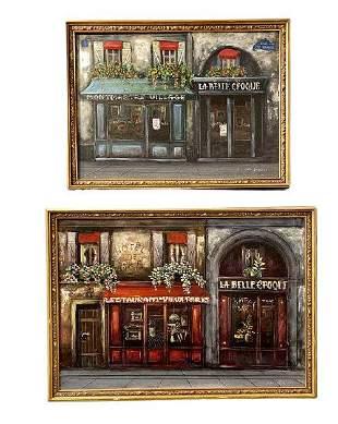 Pair Of Oil on Canvas Signed M. Vali Paris 89