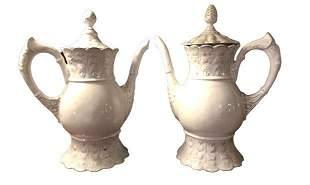 Pair of Ceramic Tea Pots