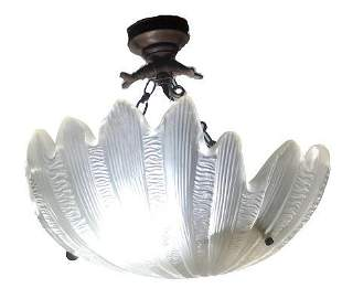 Frosted Shell Form Chandelier