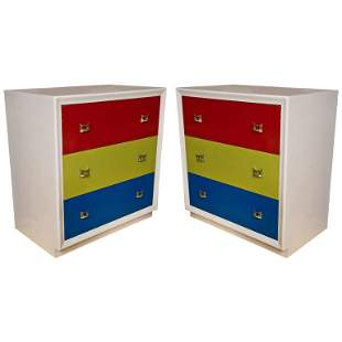 Pair of Mid-Century Modern Style Chests of Drawers
