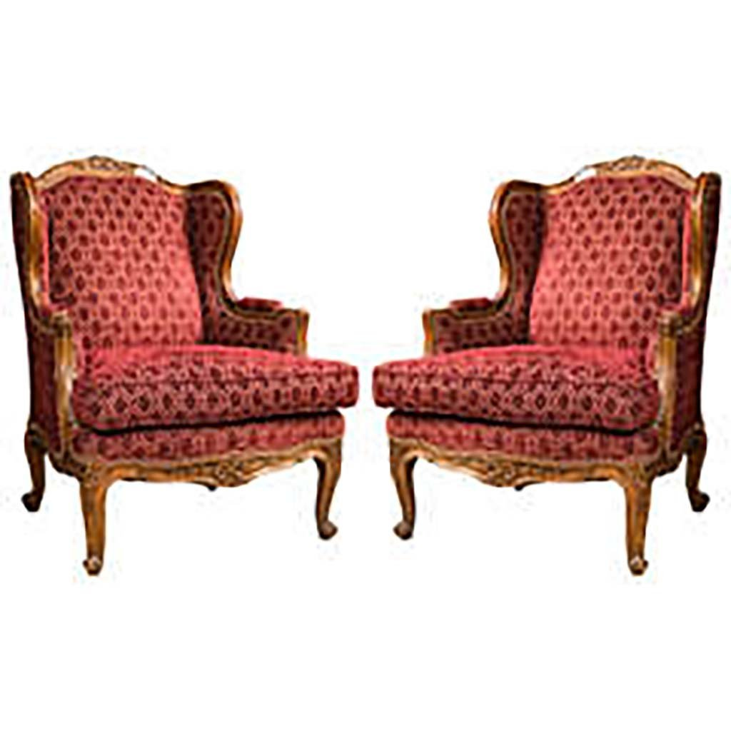 PAIR LOUIS XV STYLE FRENCH BERGERES