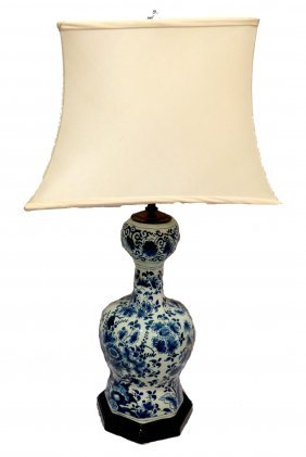 Chniese Vase Mounted As A Lamp