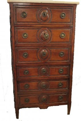 Antique French Style Tall Chest