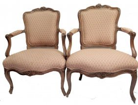 Pair 18th Century French Fauteuils