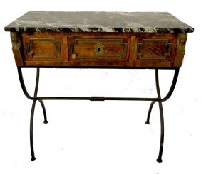 19th Century Marble Top Side Table
