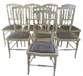 Set Of Jansen Style Dining Chairs
