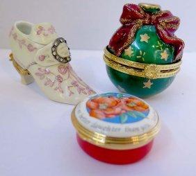 Limoges Porcelain Shoe Form Box