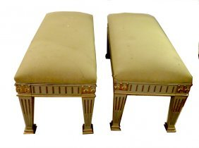 Pair Upholstered Window Benches