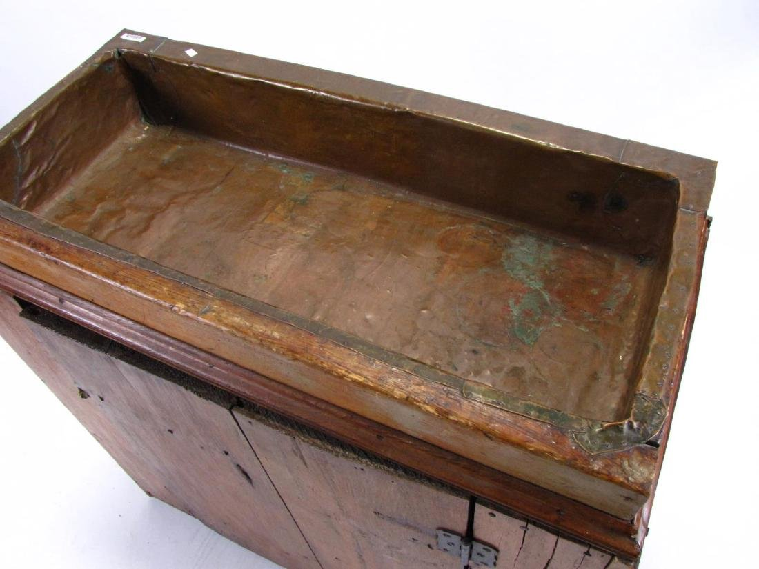 Antique Copper-Lined Dry Sink - 3
