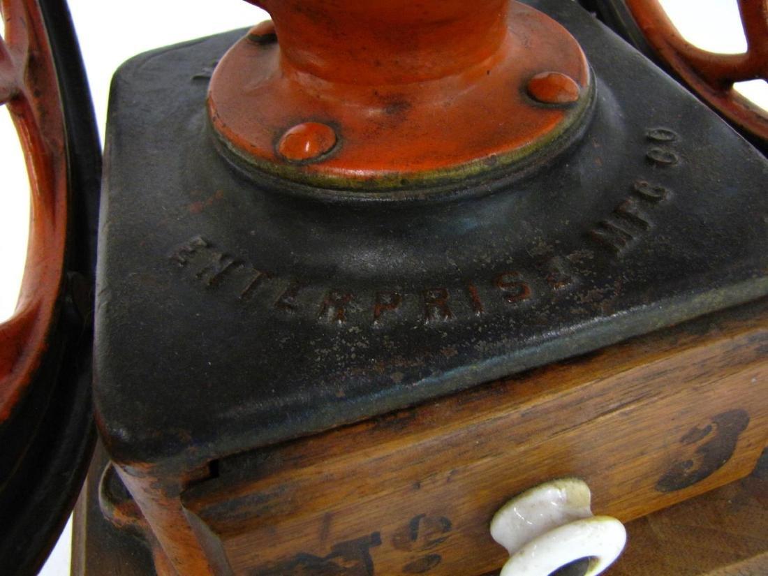 Antique Cast Iron Enterprise No.2 Coffee Grinder - 2