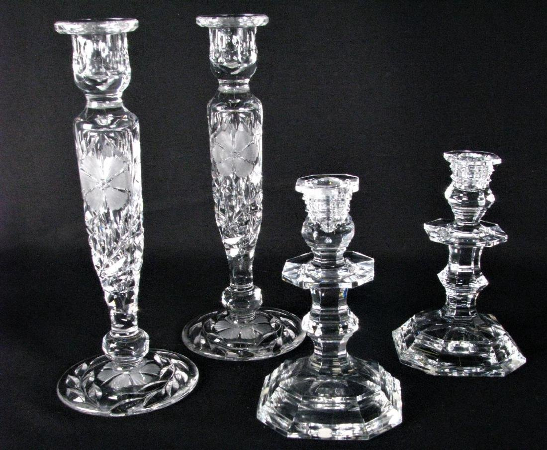 Two Pair Crystal Candlesticks, Baccarat