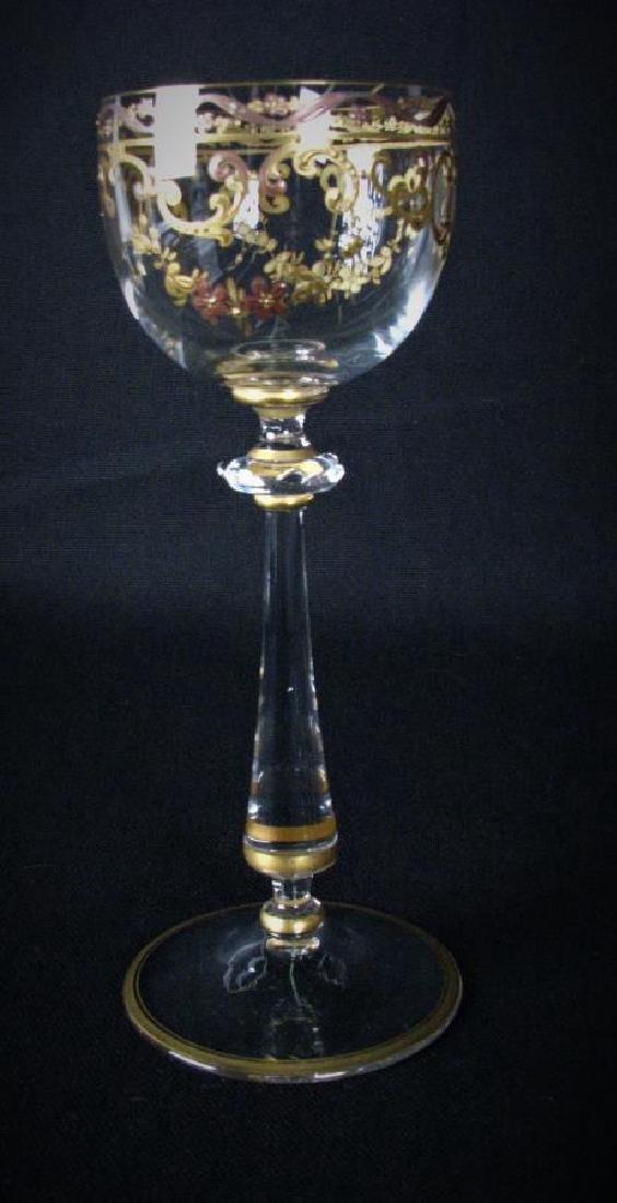 Set of Enameled Crystal Stemware - 3