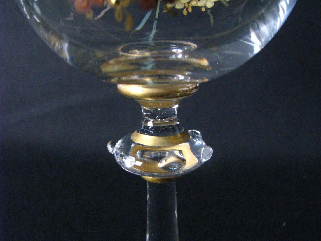 Set of Enameled Crystal Stemware - 5