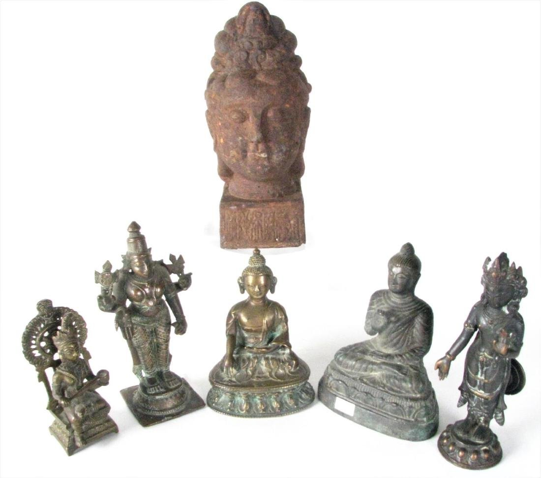 Group of Bronze and Cast Metal Buddha Figures