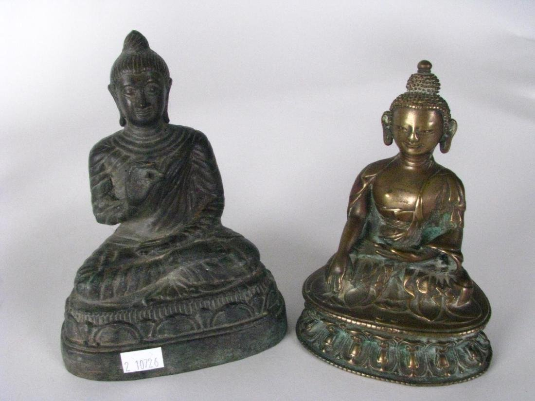 Group of Bronze and Cast Metal Buddha Figures - 4