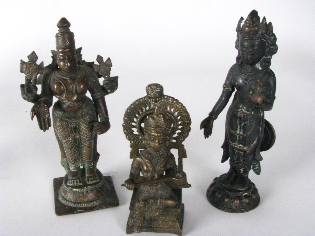 Group of Bronze and Cast Metal Buddha Figures - 5