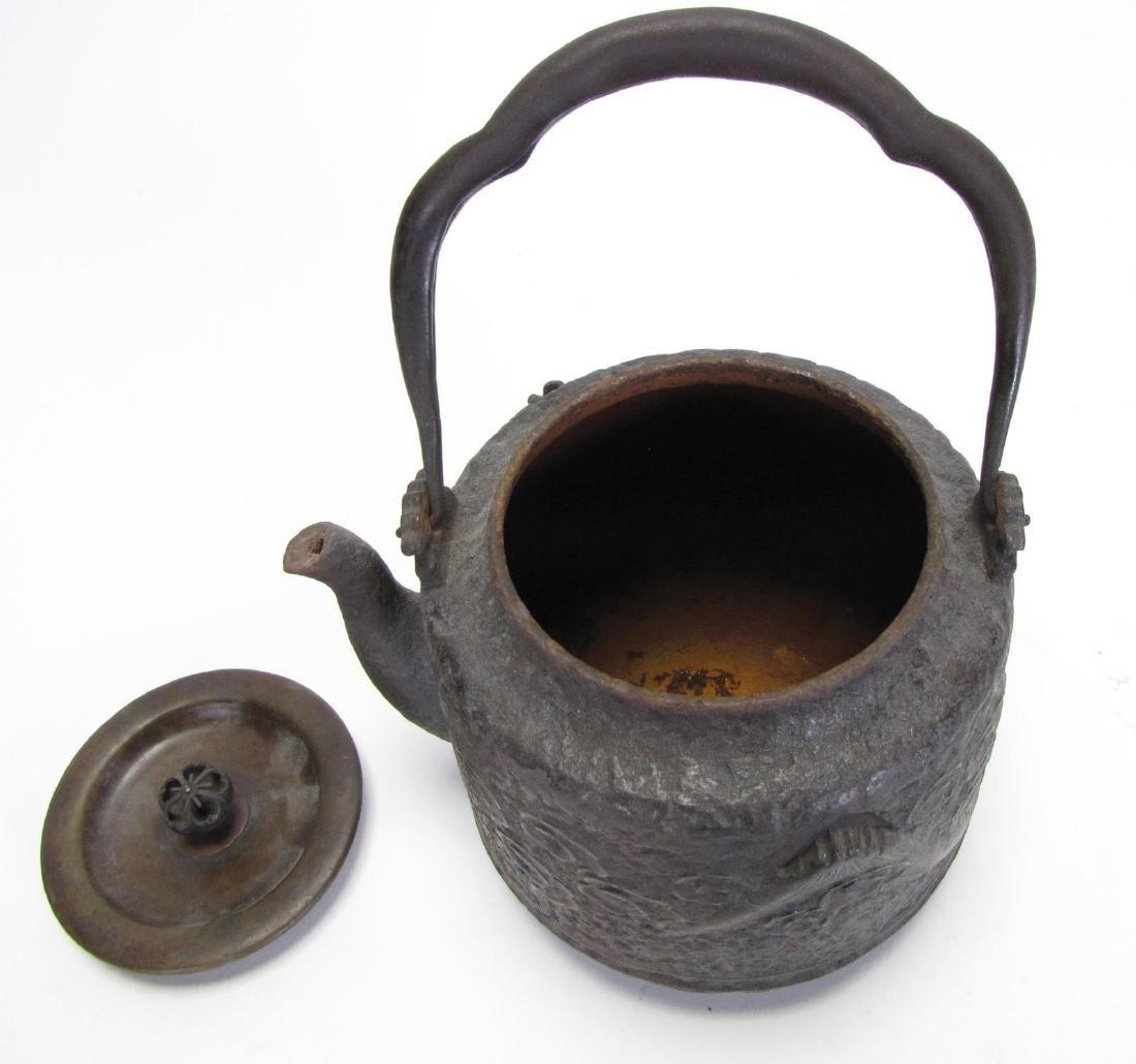 Japanese Tetsubin Chagama Iron Kettle - 5