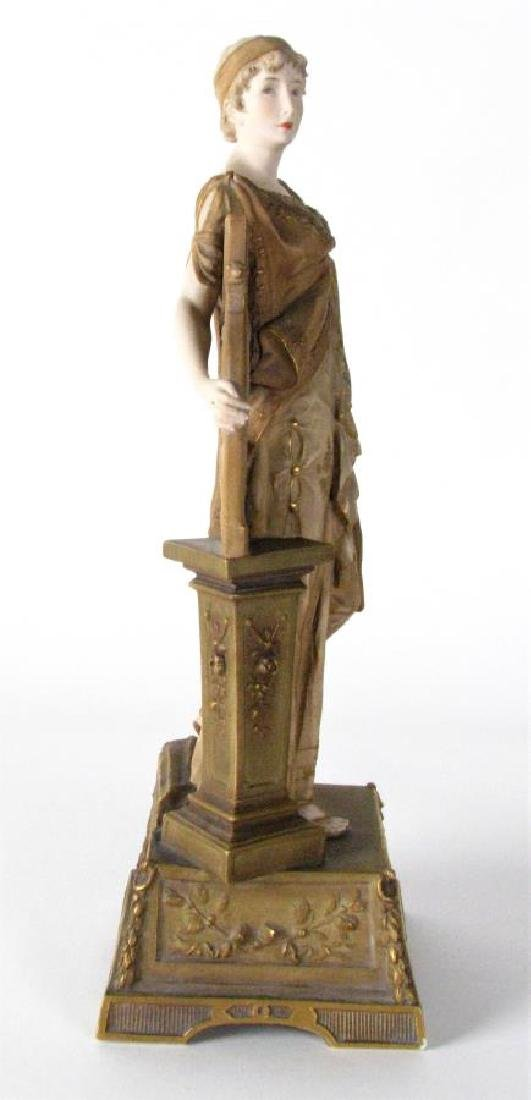 Ernst Wahliss Amphora Porcelain Woman with Harp - 3