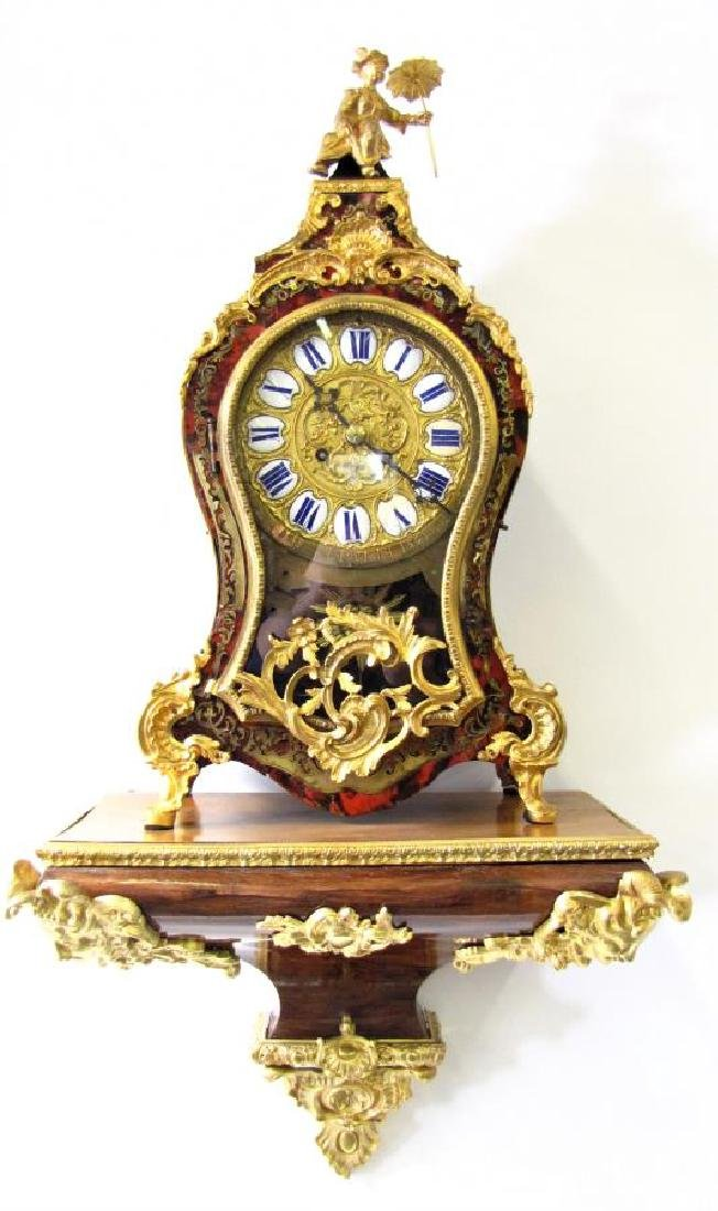 Antique French Boulle Mantle Clock