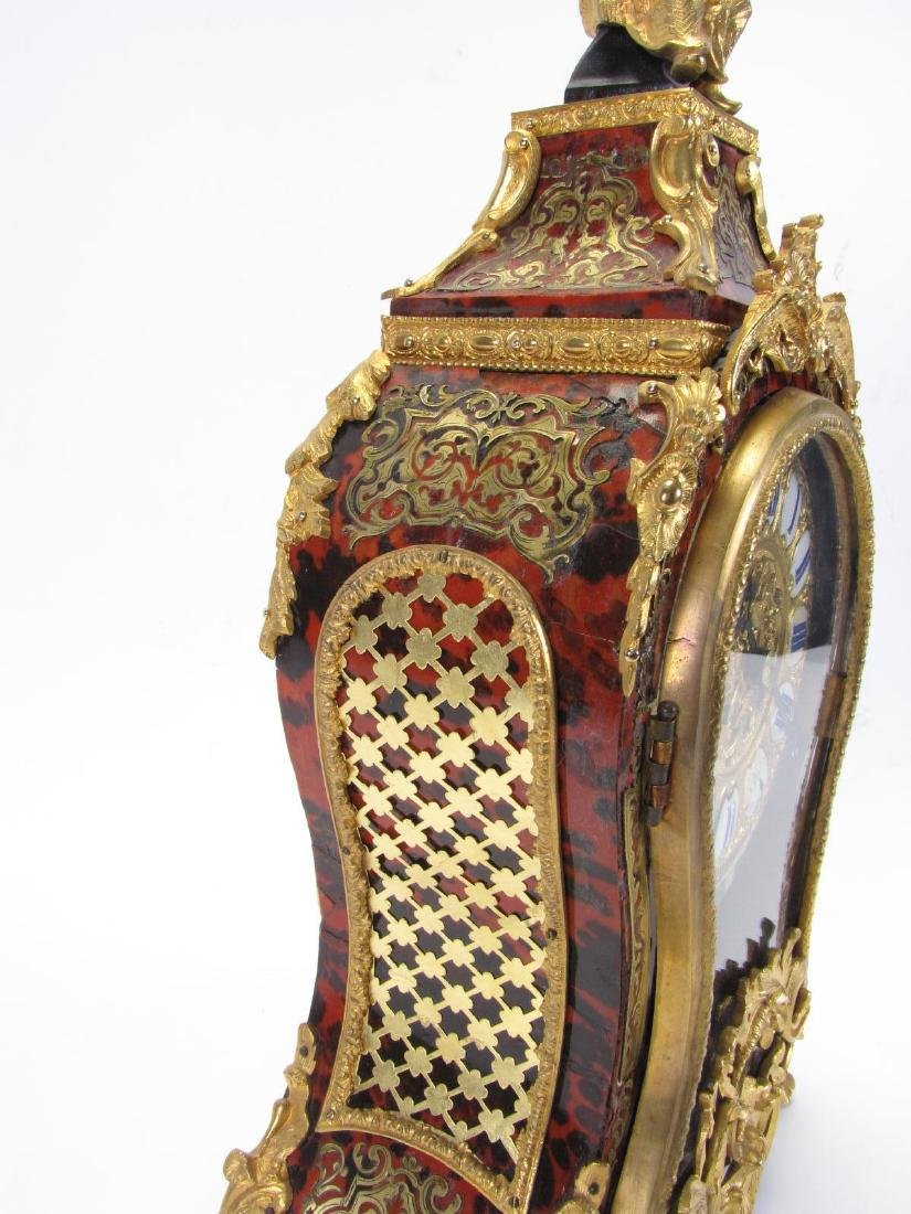 Antique French Boulle Mantle Clock - 6