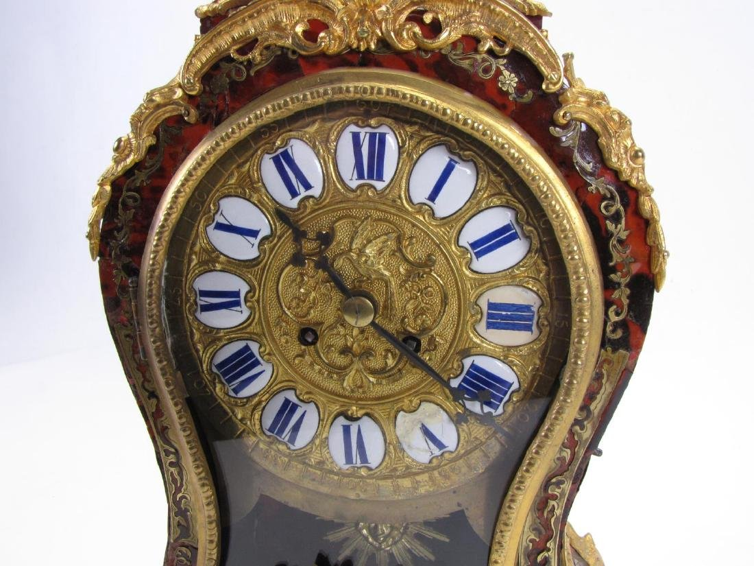 Antique French Boulle Mantle Clock - 7