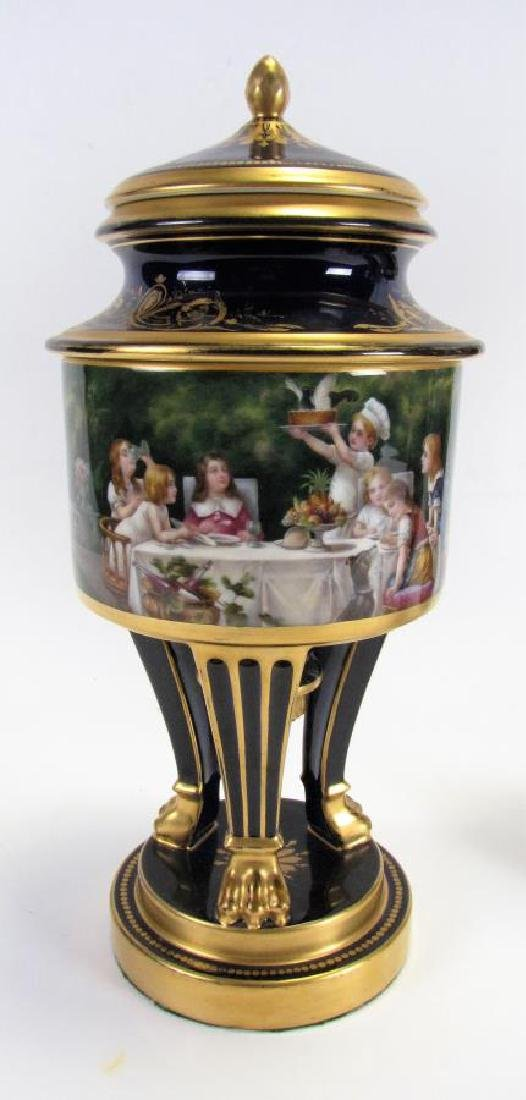 Dresden Cobalt Porcelain Fruit Cooler