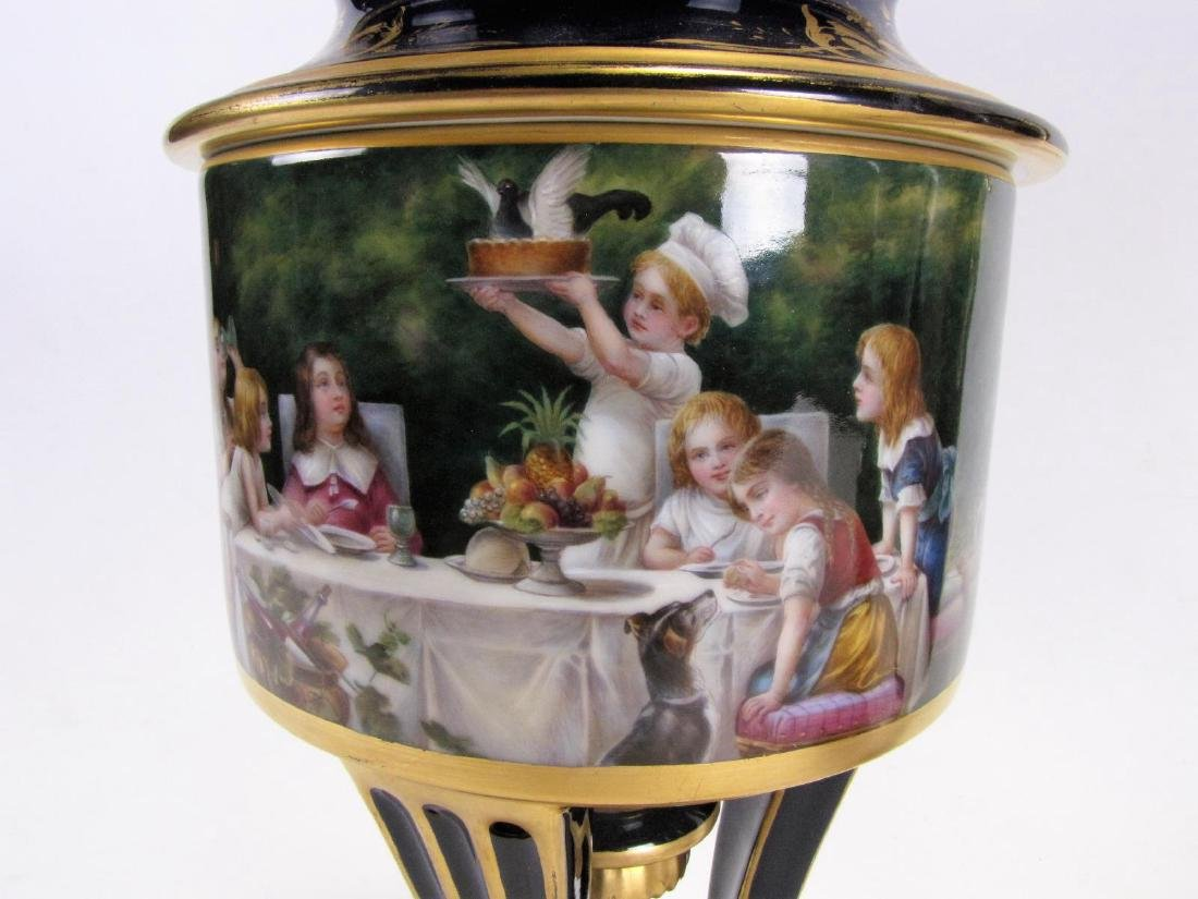 Dresden Cobalt Porcelain Fruit Cooler - 2